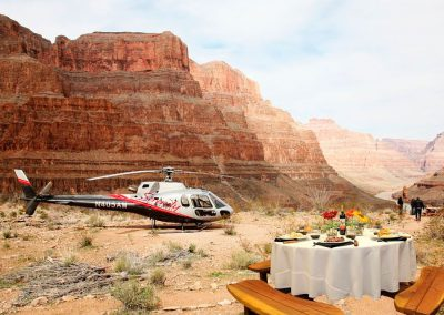 Picnic de Helicóptero no Grand Canyon
